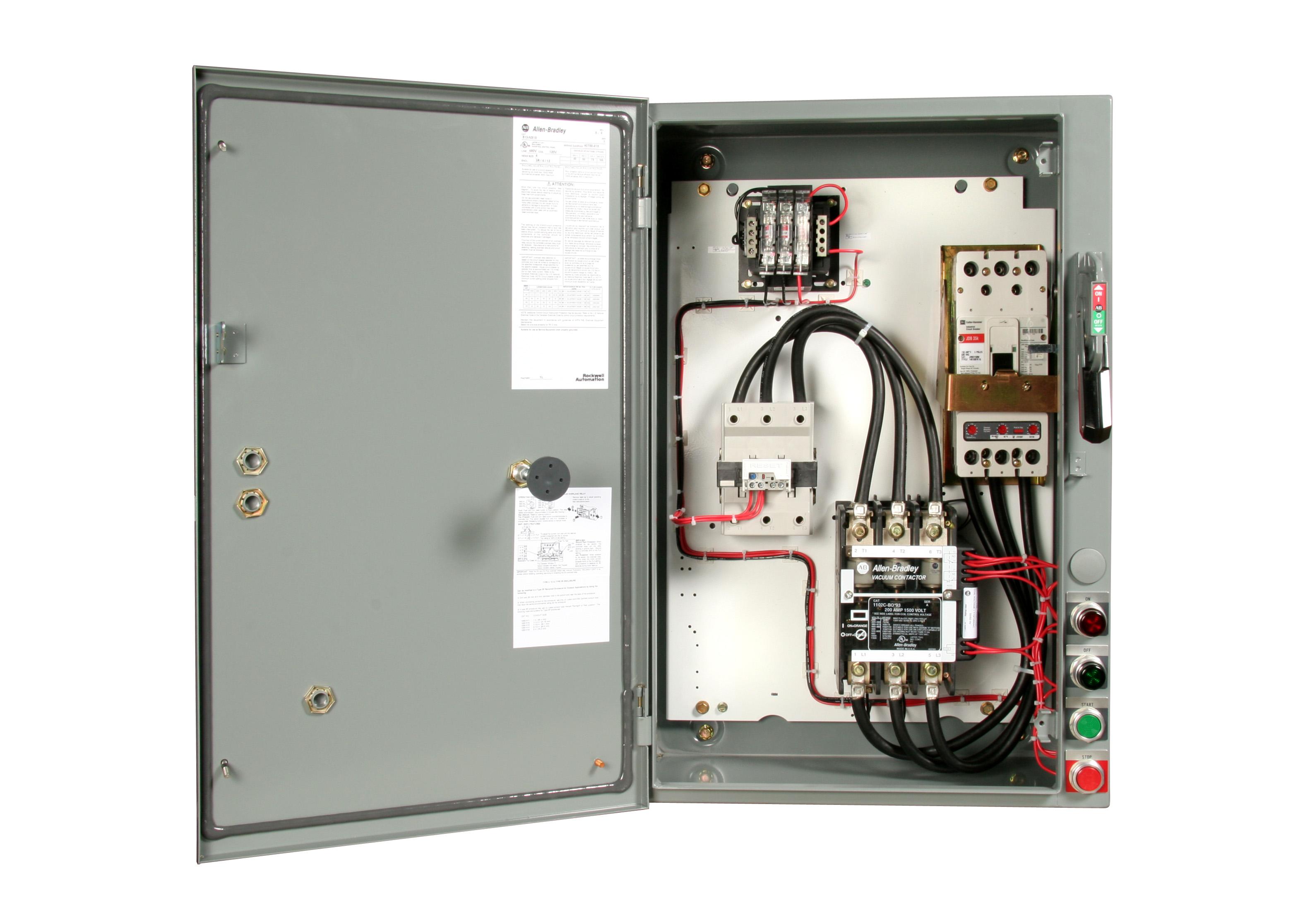 Nema vacuum combination starter circuit breaker type for Circuit breaker for 7 5 hp motor