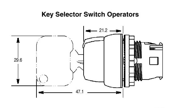 800f 2 position key selector switch