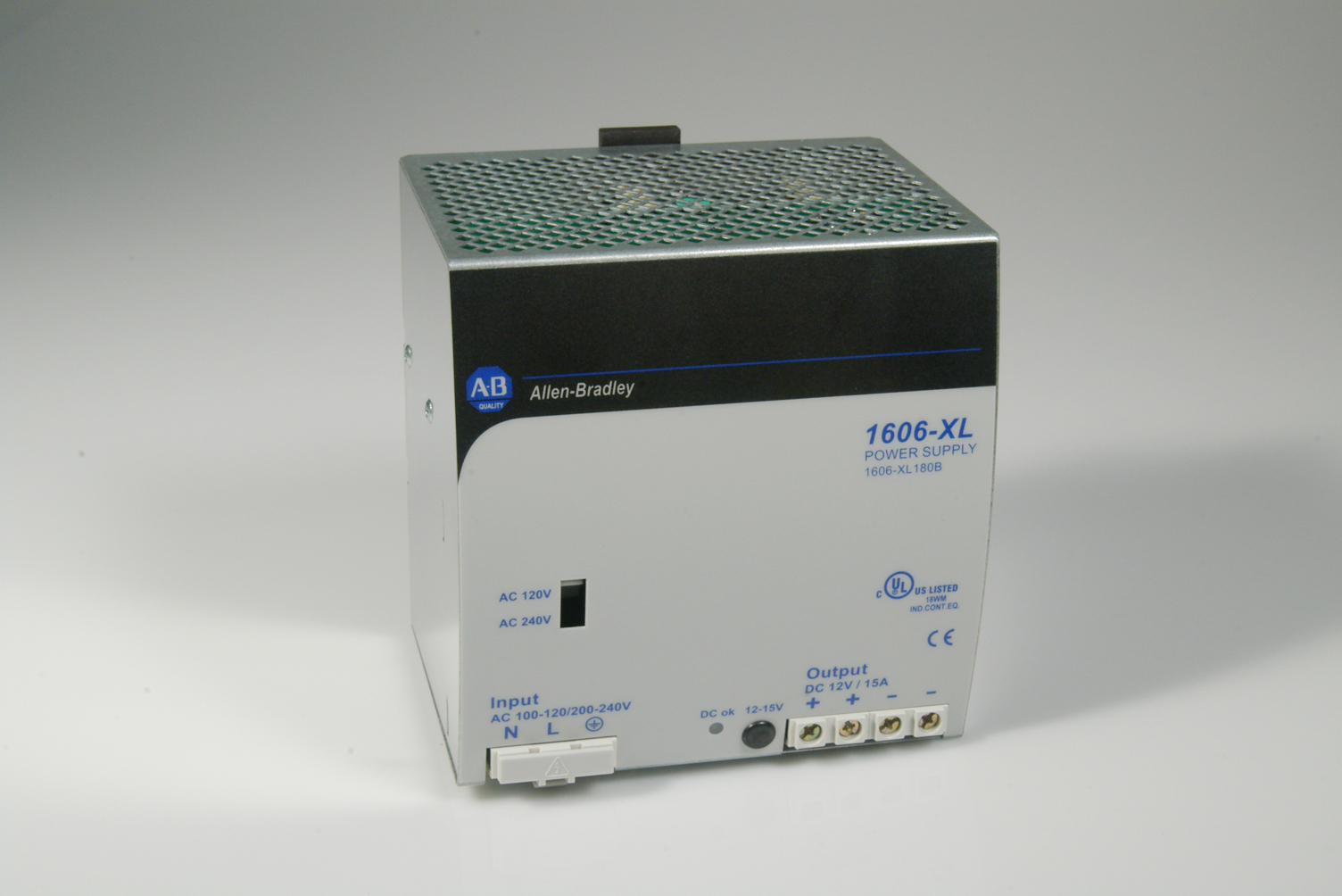 1606-XL180B: Standard Power Supply, 12-15V DC, 180 W, 120/240V AC ...