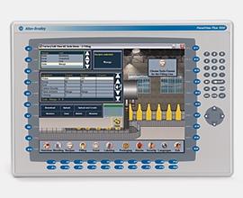 2711 panelview plus 6 terminal, 1250 model, keypad, color.