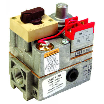 1/2 in x 3/4 in with 1/2 in NPT side outlets PowerPile millivolt gas valve includes reducer bushings